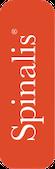 Spinalis logotyp röd med vit text vertikal